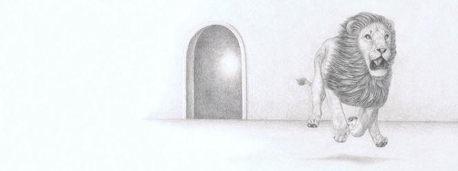 Zauberer von oz, Flüchtender löwe, Tiere, Tierzeichnung, Irina wall, Zeichnungen