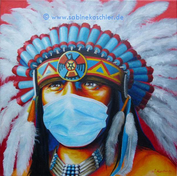 Maske, Coronamaske, Kopfschmuck, Mund, Schutzmaske, Rot