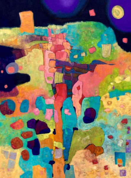 Expressionismus, Abstrakt, Modern, Regenbogen, Ölmalerei, Malerei