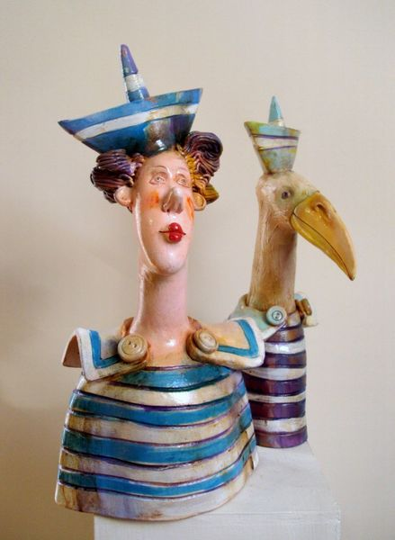 Skulptur, Design, Keramik, Portrait, Kunsthandwerk