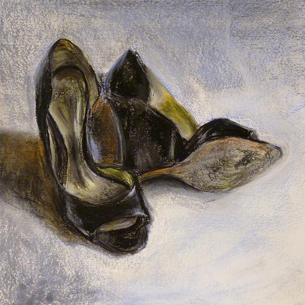 Frau, Schuhe, Schwarz, Pumps, Reiz, High heels