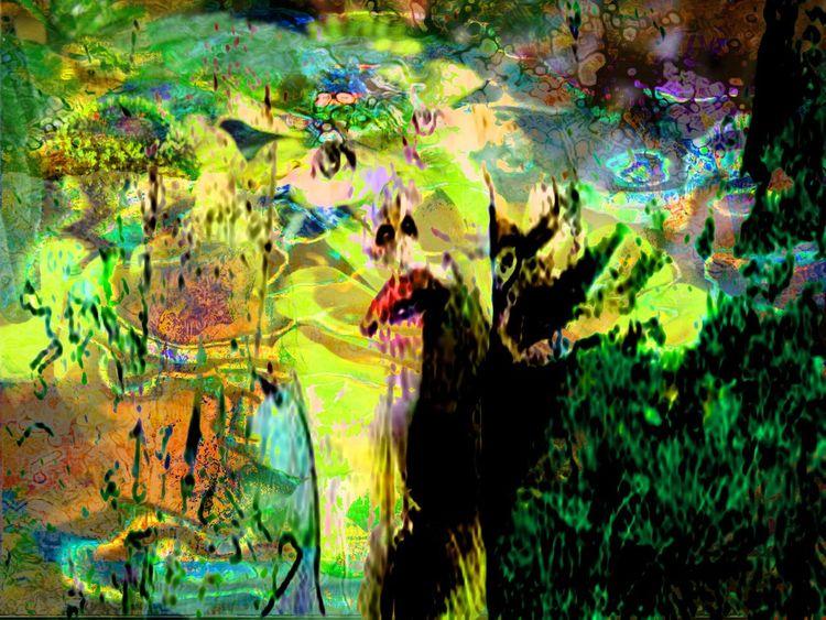 Duft, Digitale kunst, Stimmung, Kinderträume, Mischtechnik, Sinn