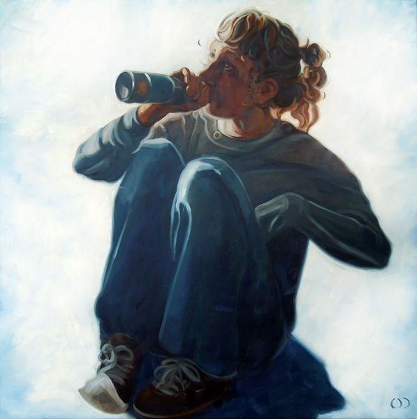 Bier, Teenager, Trinken alkohol, Malerei