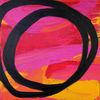 Rot, Kreis, Pink, Acrylmalerei