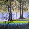 Herbst, Baum, Landschaft, Malerei