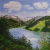 See, Gebirgslandschaft, Alpen, Tanne