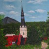 Sommer, Gebäude, Kirche, Schachthalde