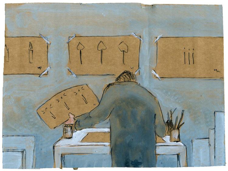 Atelier, Advent, Auseinandersetzung, Illustrationen