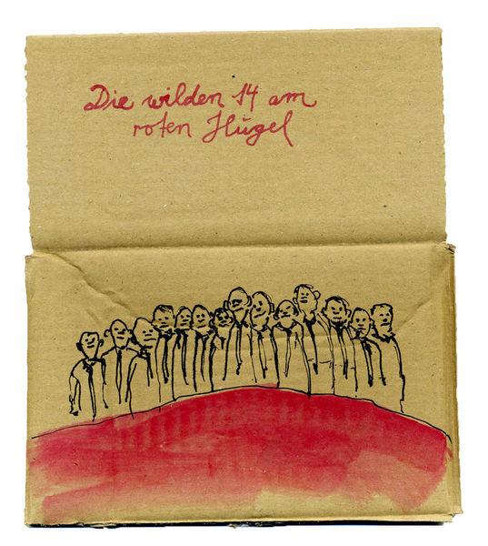 Hügel, Wild, Rot, Malerei,
