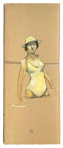 Sonne, Frau, Wasser, Zeichnungen