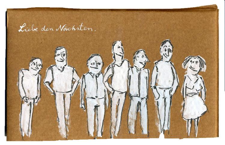 Mann, Schlange, Liebe deinen nächsten, Liebe, Frau, Zeichnungen