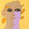 Frau, Sehnsucht, Museum, Malerei