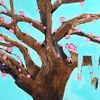 Baum, Verbindung, Schlaf, Mischtechnik