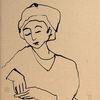 Frau, Strich, Geduld, Zeichnungen