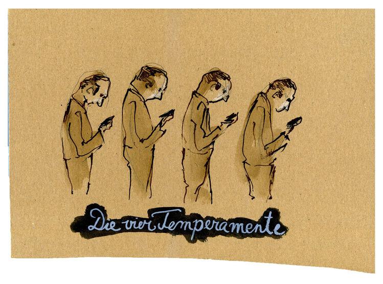 Charakter, Temperament, Handy, Zeichnungen