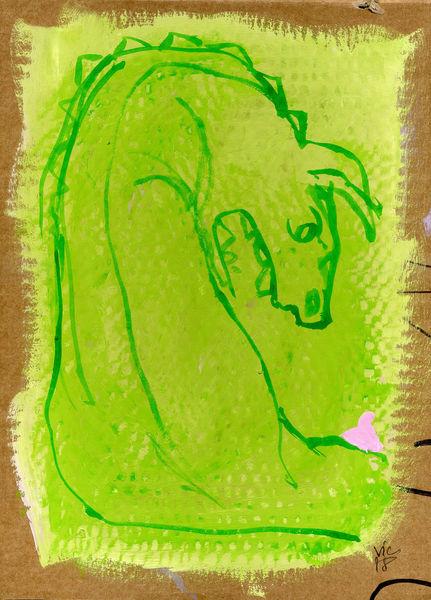 Wut, Monster, Harry schlüther, Malerei