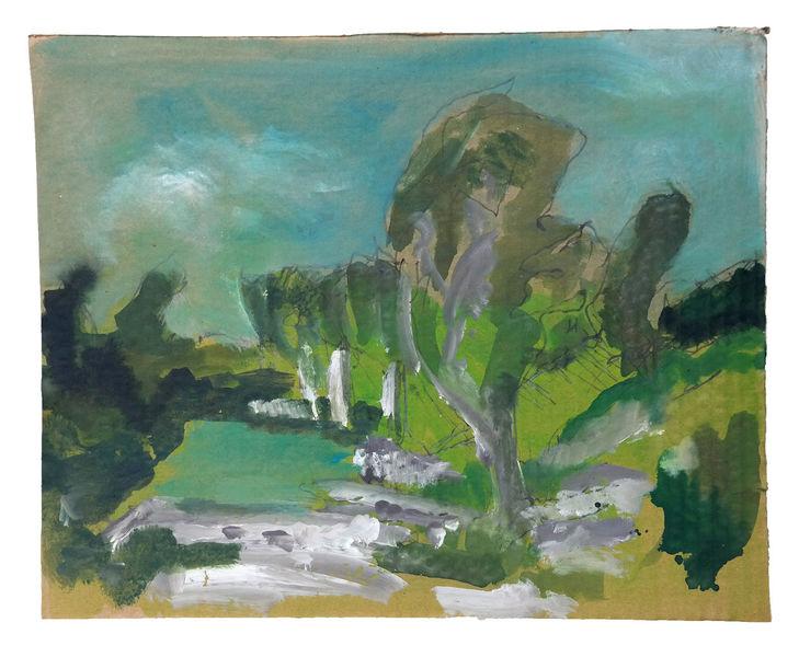 Eis, Befreit, Natur, Landschaft, Baum, Malerei