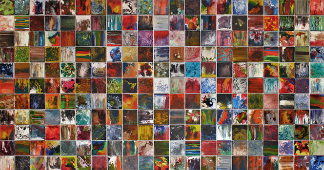 Groß, Acrylmalerei, Meisterwerk, Abstrakt, Supernova, Tusche