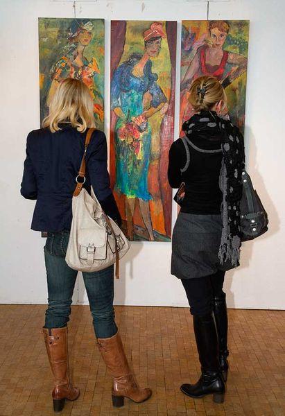 Ausstellung, Figur, Drei werke, Osnabrück, Fotografie, Pinnwand
