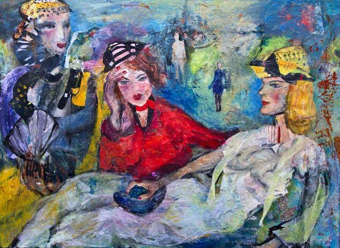 Figur, Weiß, Violett mit gelb, Plus, Rot, Blau