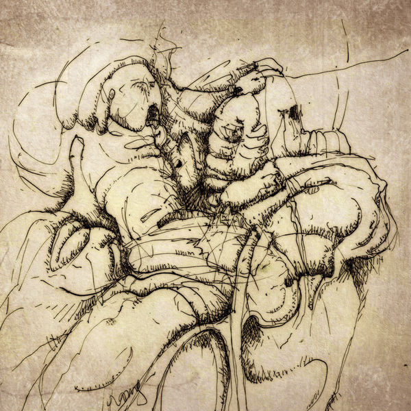 Erlkönig, Federzeichnung, Tusche, Zeichnungen