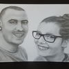 Liebespaar, Portraitzeichnung, Zeichnung, Gesicht