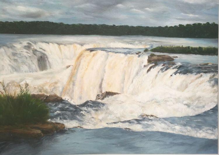 Wasserfälle, Ölmalerei, Tropen, Malerei, Brasilien,