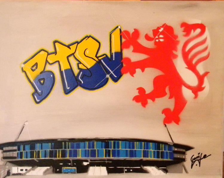 Braunschweig, Stadt, Graffiti, Eintracht, Löwe, Stadion