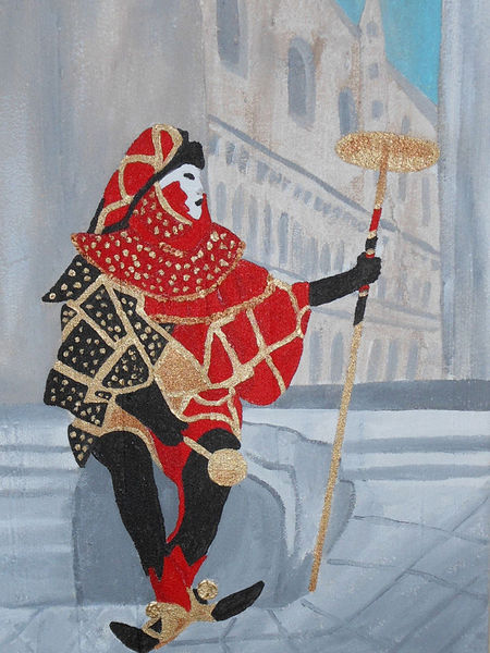 Venedig, Malerei, Karneval, Maske, Acrylmalerei, Maskerade