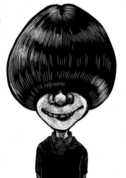 Schwarz weiß, Modern, Zeichnung, Zeichnungen, Haare
