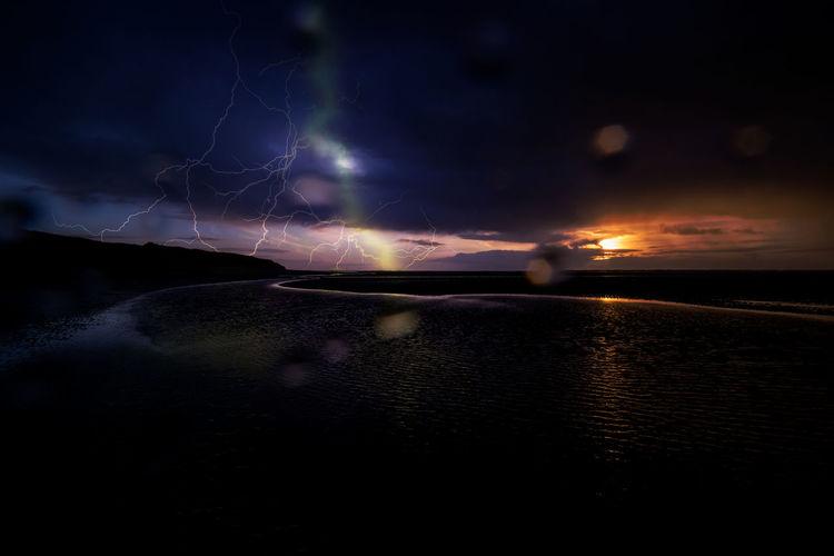 Sonne, Blitz, Strand, Wetter, Langeoog, Insel