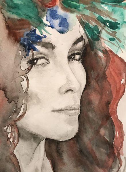Monochrom, Zeichnung, Augen, Grün, Grafik, Portrait