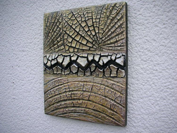 Kn 17, Schwarz, Gold, Kunsthandwerk, Abstrakt