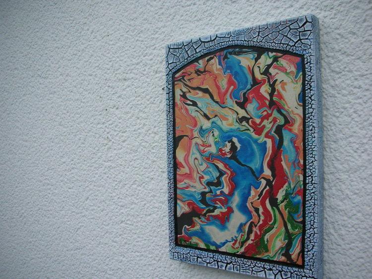 Acrylmalerei, Kn17, Holzbildträger, Mischtechnik