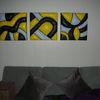 Acrylmalerei, Holzbildhauerei, Styrosmasse, Mischtechnik