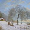 Schnee, Feinmalerei, Gegenständliche, Landschaft