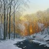 Feinmalerei, Bach, Natutalimus, Schnee