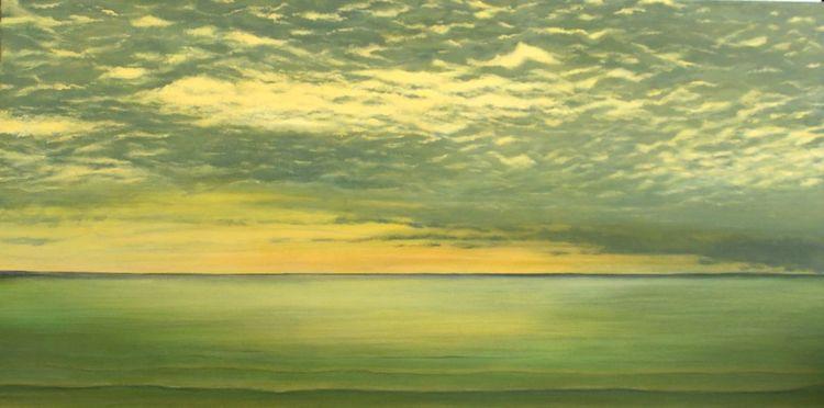 Himmel, Landschaft, Wolken, Acrylmalerei, Malerei, Licht
