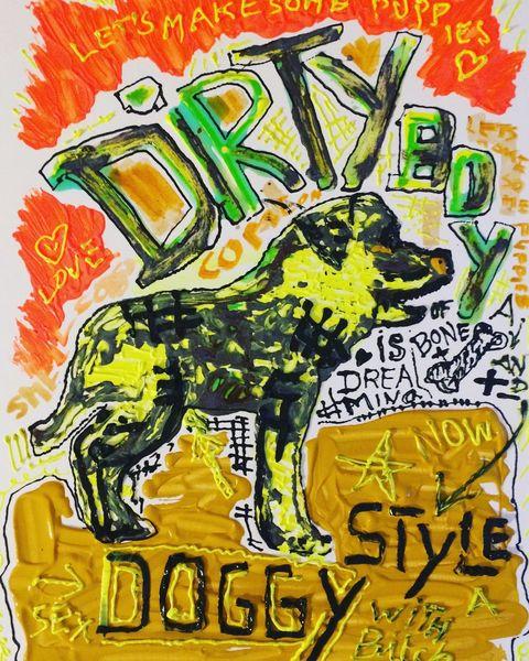 Hund, Typo, Malerei