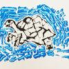 Schildkröte, Insel, Tortuga, Malerei