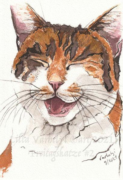 Skizze, Lachen, Katze, Zeichnung, Tuschmalerei, Zeichnungen