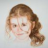 Gesicht, Kind, Mädchen, Tuschmalerei
