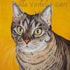 Katze, Relismus, Ölmalerei, Harzöl