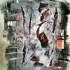 Collage, Monotypie, Schwarz, Weiß