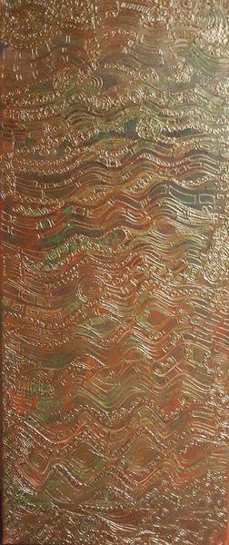 Relief, Struktur, Gold, Jugendstil, Malerei,
