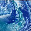 Acrylmalerei, Blau, Meer, Malerei