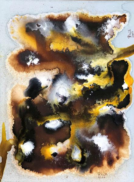 Gelb, Braun, Fantasie, Abstrakt, Malerei