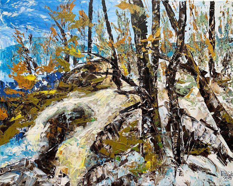 Natur, Landschaft, Herbst, Bach, Winter, Wald