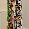 Säule, Blumen, Orchidee, Malerei