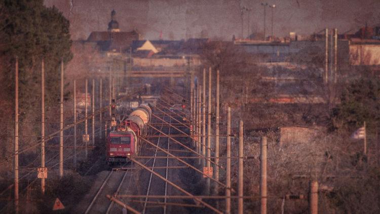 Eisenbahn, Vintage, Güterzug, Magdeburger, Bahn, Fotografie